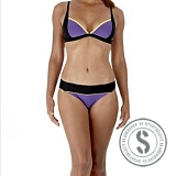 Waveboom 2 Piece Bikini - Purple Black Yellow