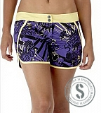 "Watershort Epione Print 12"" - Purple Black Yellow"