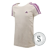 Young Girls Essentials 3 Stripes Tee - White