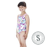 Geny Allover Swimsuit - Pink Blue
