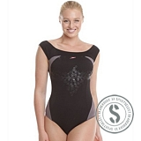 Endurance Aquashine 1 Piece - Black Pink
