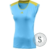 adiZero Capsleeve - Light Aqua Vivid Yellow