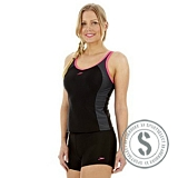 Winner Tankini - Black Grey