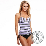 Printed Tankini - Black Purple