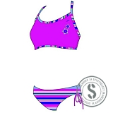 Junior Printed Bikini - Pink Purple