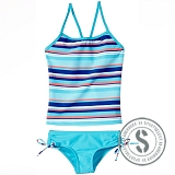 Junior Printed Tankini - Blue