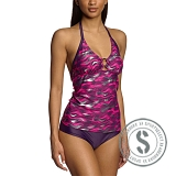 Printed Tankini - Purple Pink