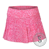Victory Printed Skirt - Pink Pow White Fireberry