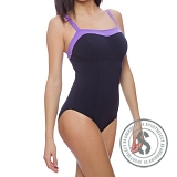 Sculpture Puresun Swimsuit - Navy Purple