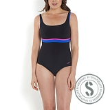 Sculpture Contour Swimsuit - Black Blue