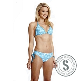 Printed Triangle Bikini - Blue