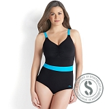 Sculpture Crystalshine Swimsuit - Black Blue