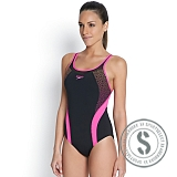 Fit Body Positioning Kickback Swimsuit - Black Pink