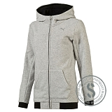 Sports Style Fullzip Hoody - Light Gray Heather