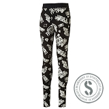 Sports Style Leggings - Black White