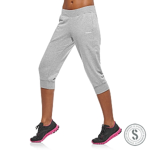 Reebok Elements Cuff Capri - Medium Grey Heather