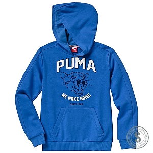 Puma Athletic Style Hooded Sweat Boys - Strong Blue