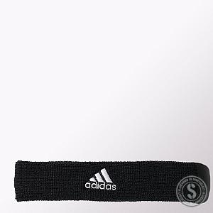 Adidas Tennis Headband - Black White